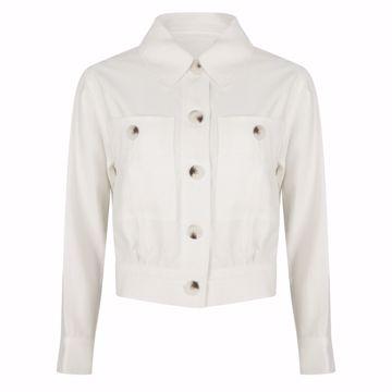 Jacket crop dobby off white