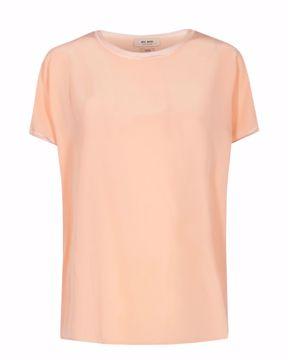 Ingi silk blouse peach parfait Mos Mosh